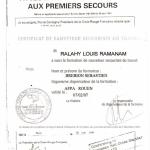 Attestation de Formation aux Premiers Secours (AFPS) - 1997
