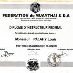 Diplôme d'Instructeur Fédéral FMDA - 2000