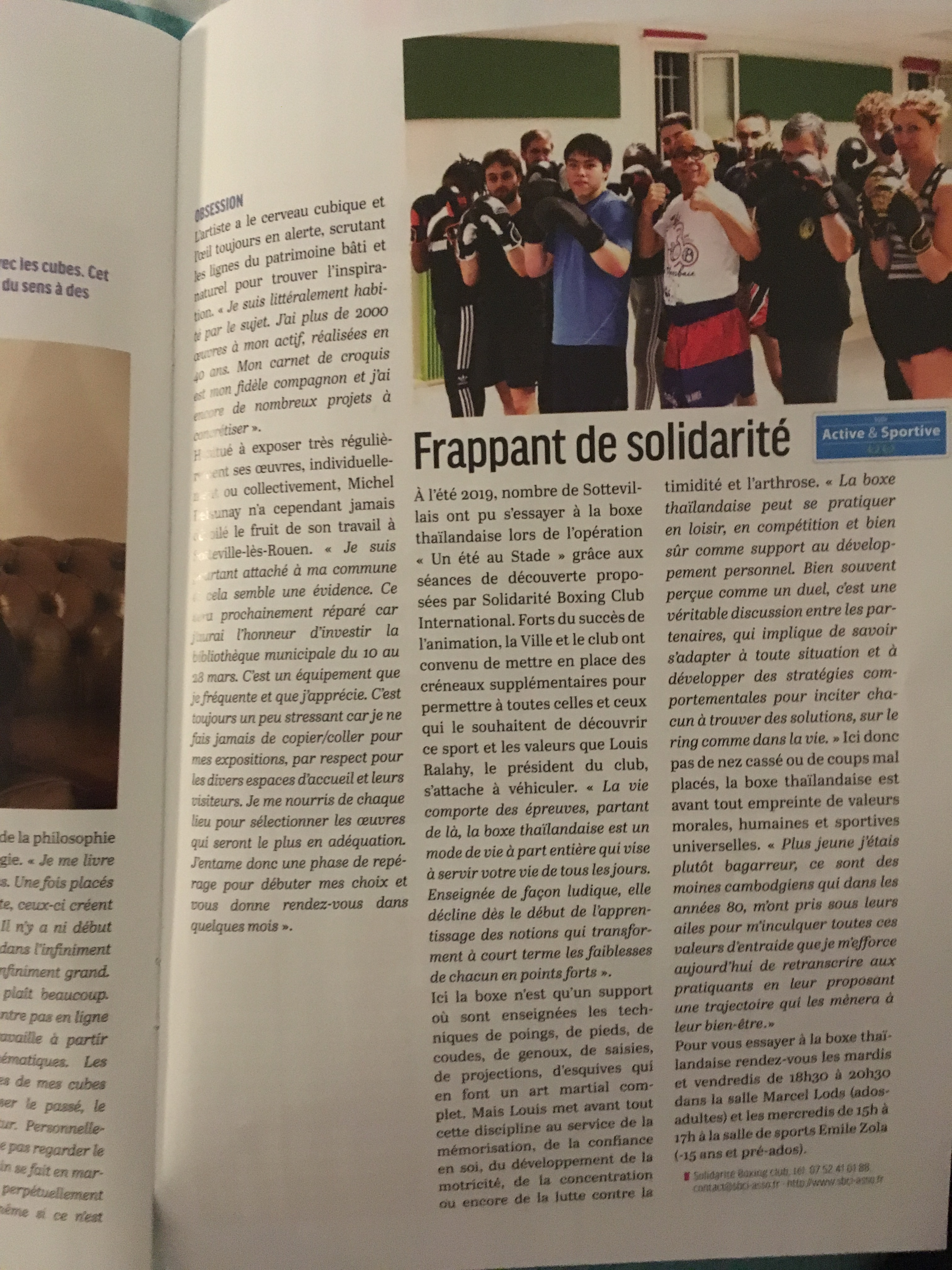 Article dans le Sotteville Mag